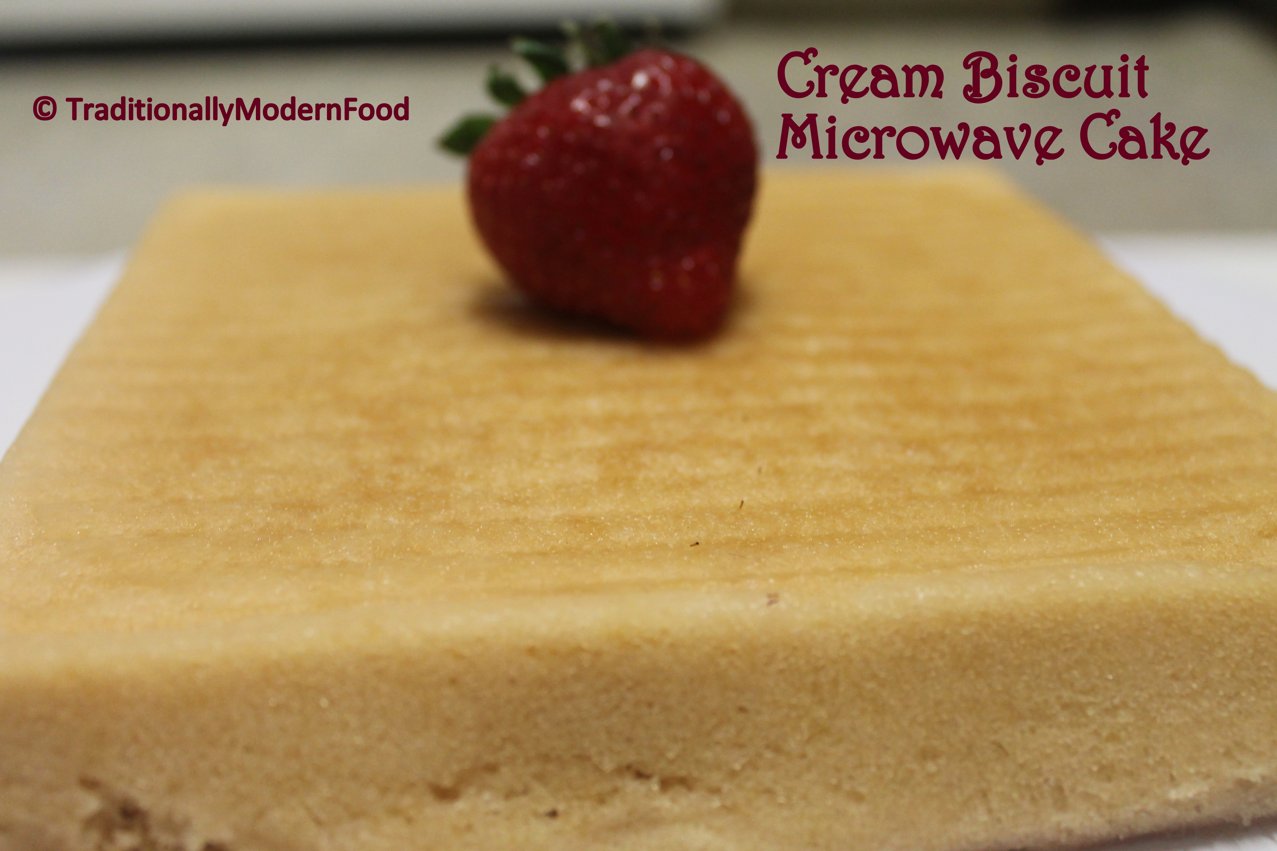Cream Biscuit Microwave Cake | Traditionally Modern Food