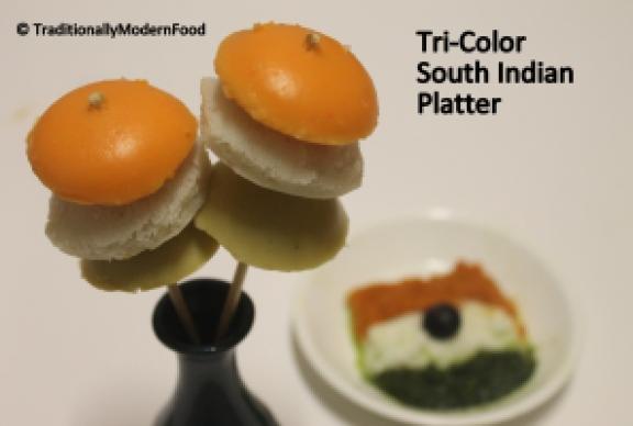 Tri-Color South Indian Platter