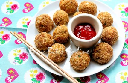 baked quinoa croquettes wide